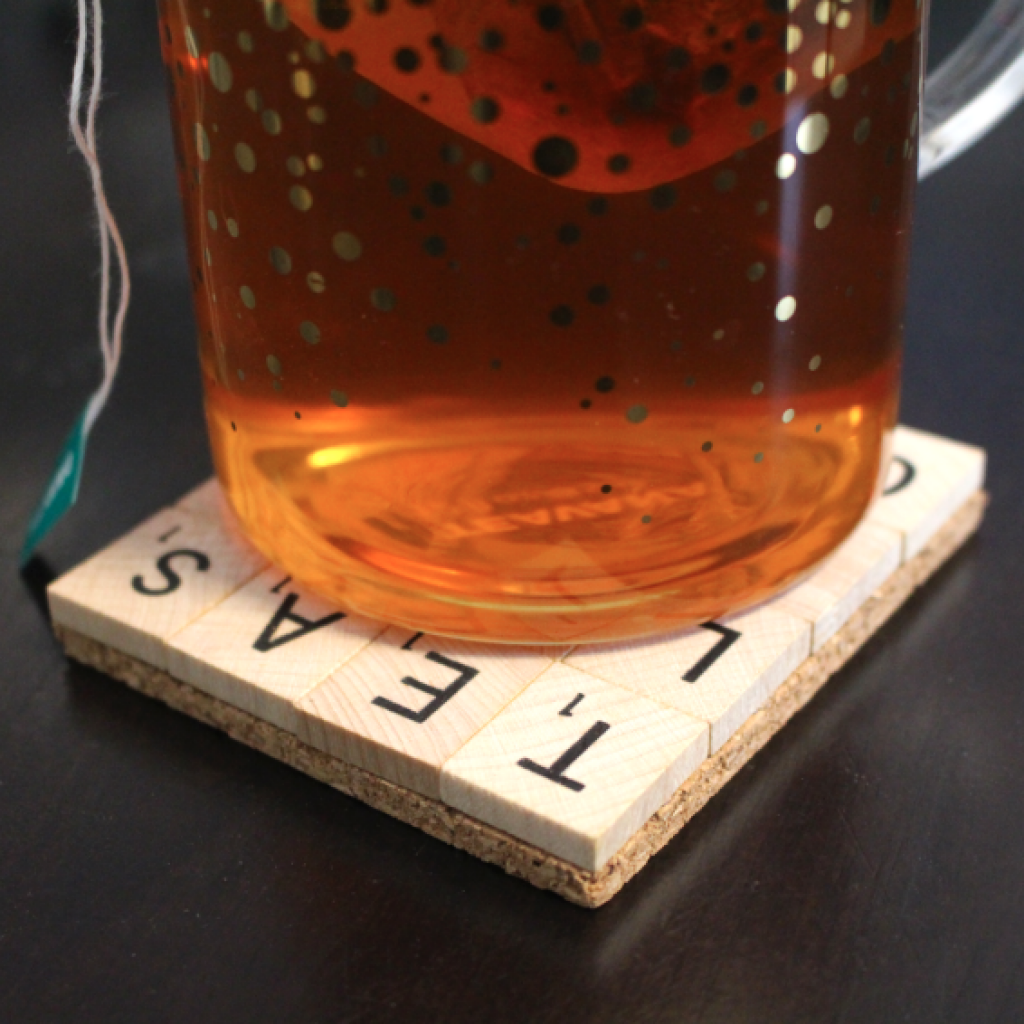 DIY Scrabble Coaster