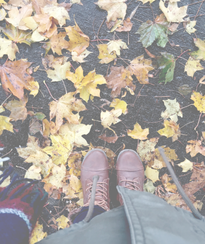 leaves and feet, fall photo